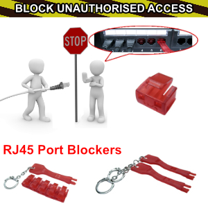 NEW RJ45 Port Blockers