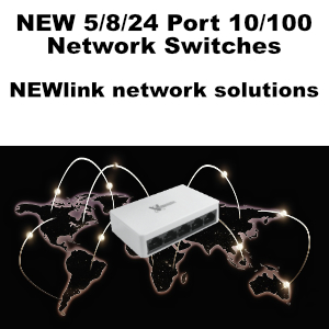 NEW 10/100 Network Switches