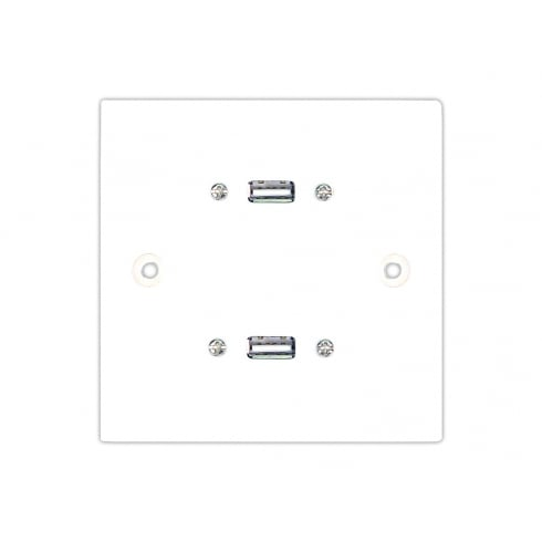 0.15m Single Twin USB Stubplate