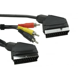 1.5m SCART & Three RCA Cable