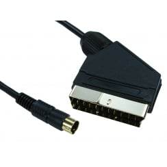 1.5m SCART to SVHS Cable