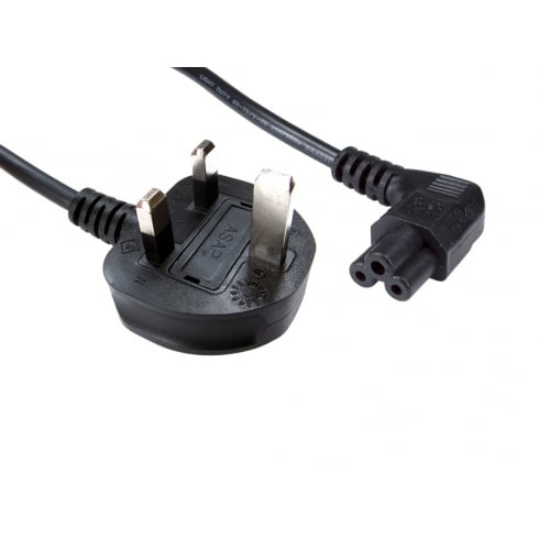1.8m UK Plug to Right Angled C5 Mains Lead