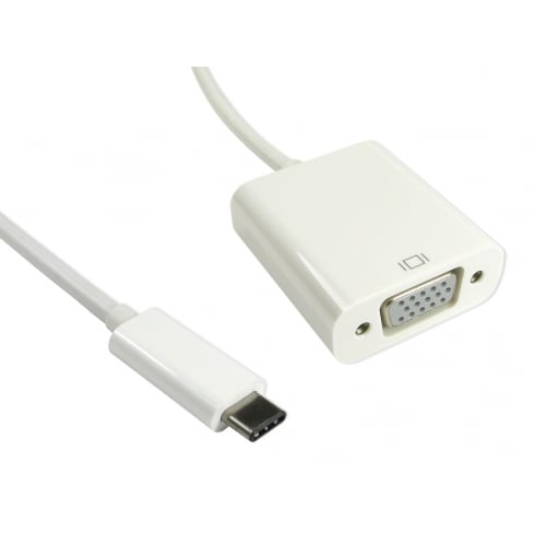 15cm Leaded USB Type C (M) to VGA (F) Adapter