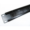 "19"" Rack Mount Black Brush Plate - 1u"