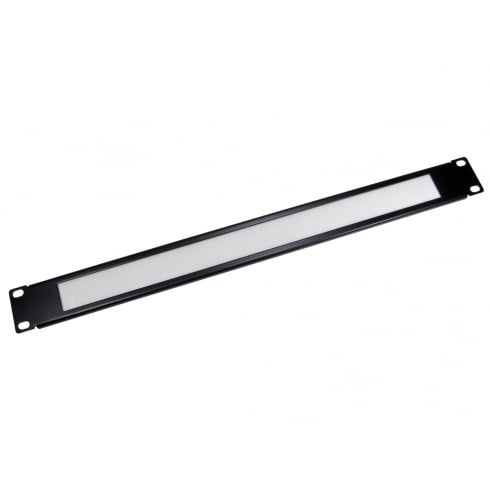 "19"" Rack Mount White Brush Plate - 1u"