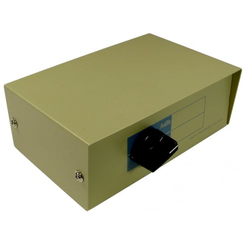 2 Port D25 (F) Serial Cross-Over Switch Box