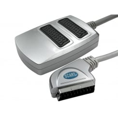2 Way SCART Splitter Box