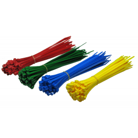 200mm x 4.8mm Assorted Bag of Cable Ties - 200 Pack