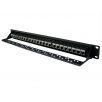 24 Port STP Cat6a Patch Panel - In-line coupler