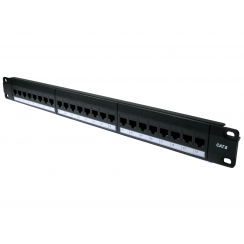 24 Port UTP Cat6 Patch Panel - In-line coupler