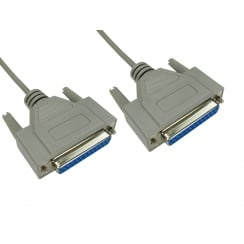 2m D25 Female to D25 Female Null Modem Cable
