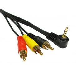 3.5mm Jack to Three RCA Cable