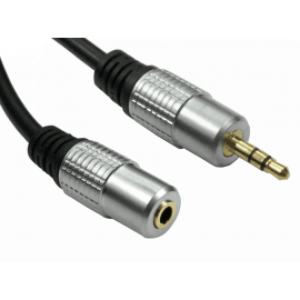 3.5mm Stereo Extension Cable - Gold Connectors