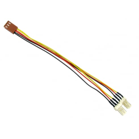 3 Pin Fan Splitter Cable, Female - 2x Male