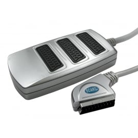 3 Way SCART Splitter Box