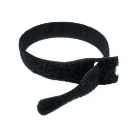 300mm X 17mm Black Velcro Cable Ties - 25 Pack