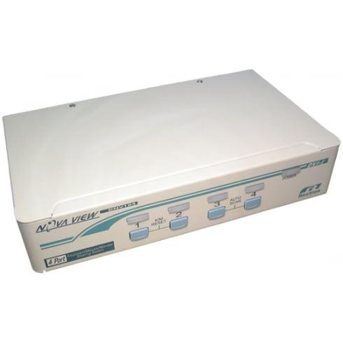 Cables Direct Ltd 4 Port KVM Switch DVID PS2 1 Full Box 6