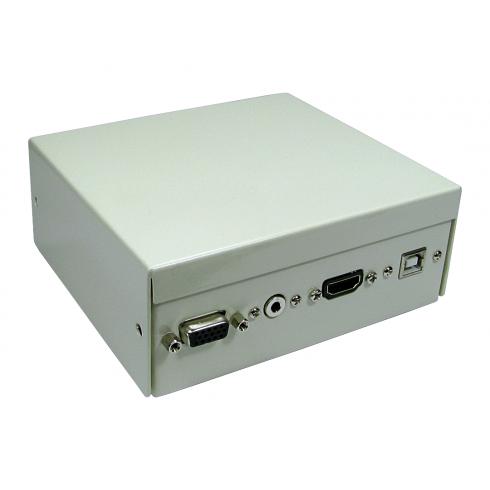 4 Port Metal Box with AV Modular Couplers