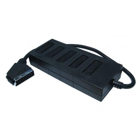 5 Way SCART Splitter Box