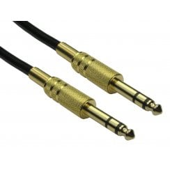 6.35mm Male to Male Audio Cable - Gold Connectors