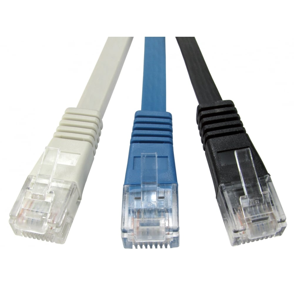Cables Direct Ltd Cat5e Flat Patch Cable Wiring On Home Ethernet 30m Grey