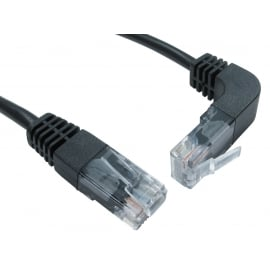 Cat5e UTP Straight to Right Angled UP Cable