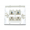 Cat6 Module Loaded Faceplate