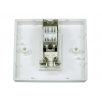Cat6a Shielded Loaded Faceplate- Tool-less