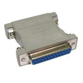 D25 Female to D25 Female Null Modem Adapter