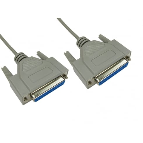D25 Female to D25 Female Null Modem Cable
