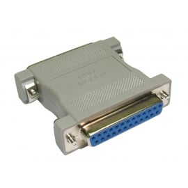 D25 Male to D25 Female Null Modem Adapter
