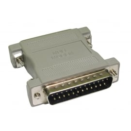 D25 Male to D25 Male Null Modem Adapter