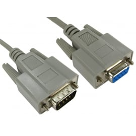 D9 9 Pin Straight Extension Cable