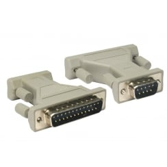D9 Pin Male to D25 Pin Male Serial Adapter
