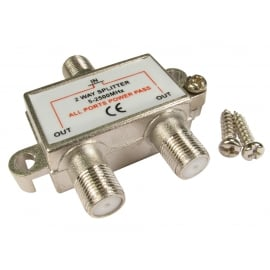 F-Connector RF Coaxial Splitter