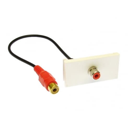 Faceplate Module with Red RCA Stub