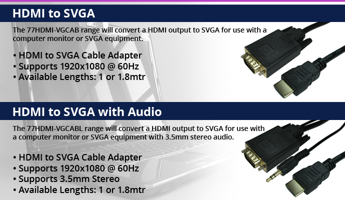 HDMI to SVGA Cable