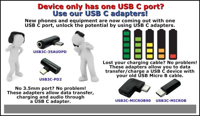 USB3C adapters