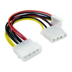 Molex Extension Cable with Floppy Drive Connector