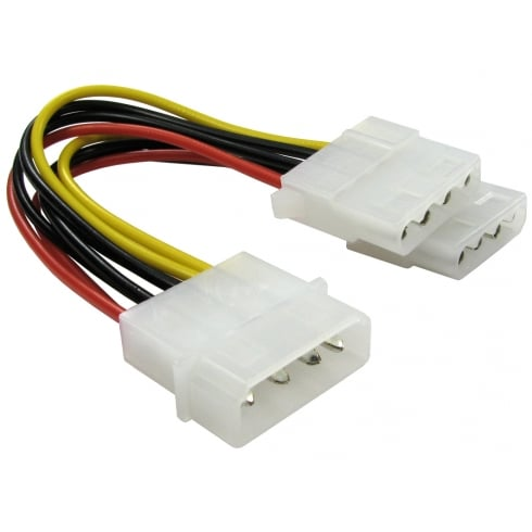 Molex to Two Molex Power Splitter Cable