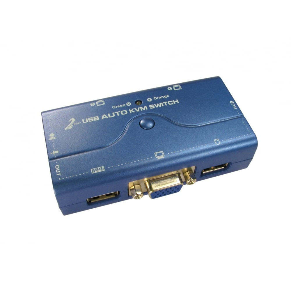 Cables Direct Ltd 2 Port Compact Kvm Switch Svga Usb Way Newlink Hover Over Image To Zoom