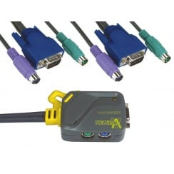 2 Port Micro KVM Switch - SVGA & PS/2
