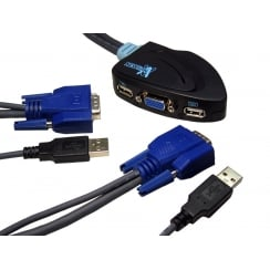 2 Port Micro KVM Switch - SVGA & USB