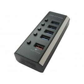 4 Port USB3.0 Hub + Quick Charge Port - PSU