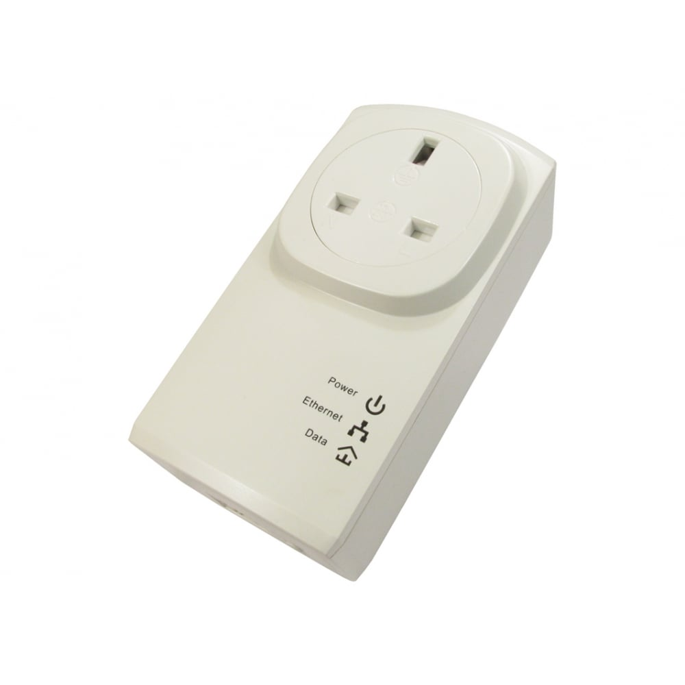 Cables Direct Ltd 500mbps Pass Through Homeplug Single Pack Network With Homeplugs Using Just Your Existing Electrical Wiring Hover Over Image To Zoom