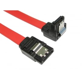 Locking SATA v2 Data Cable - Straight to Right Angled