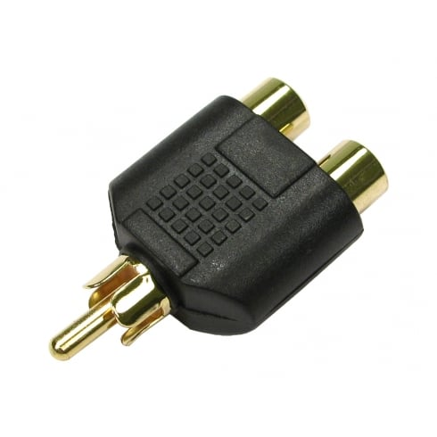 One RCA to Two RCA Adapter