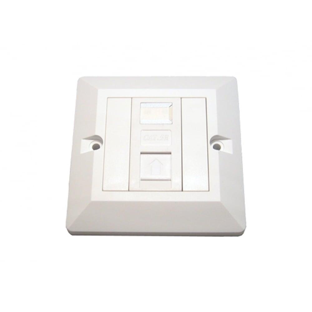 1 Port Rj45 Face Plate Wall Socket Loaded Faceplate