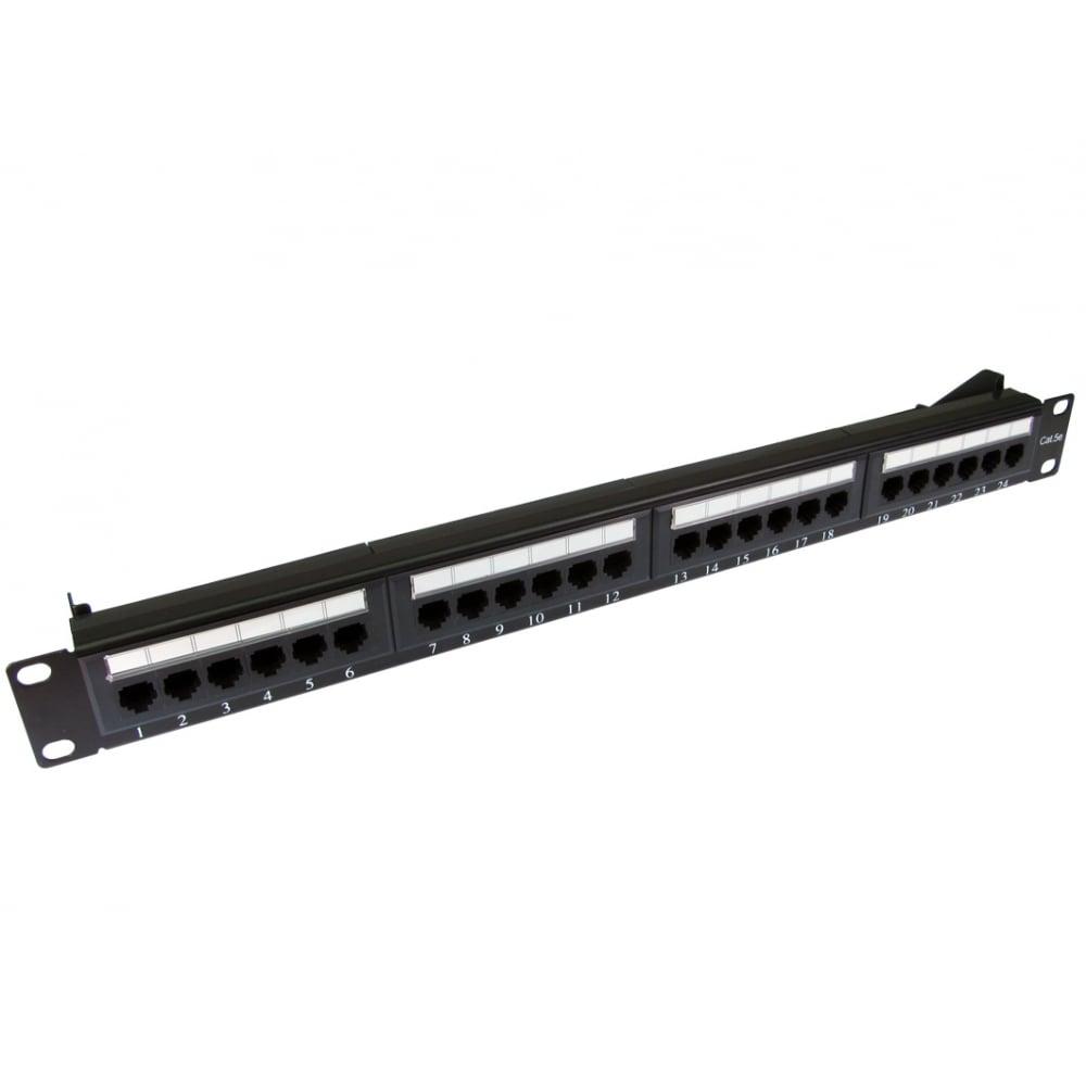 Cables Direct UT-899224 24 Port 1U Rack Mountable Cat5e Patch Panel