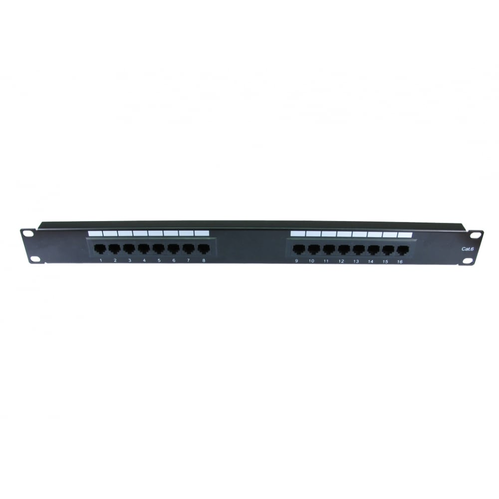Cables Direct UT-899546 16 Port CAT6 Patch Panel